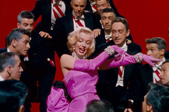 Marilyn Monroe in <i>Gentlemen Prefer Blondes</i>.