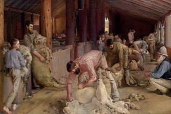 Tom Roberts, 'Shearing the rams', 1890.