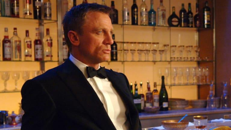 Daniel Craig as James Bond at Casino Royale.