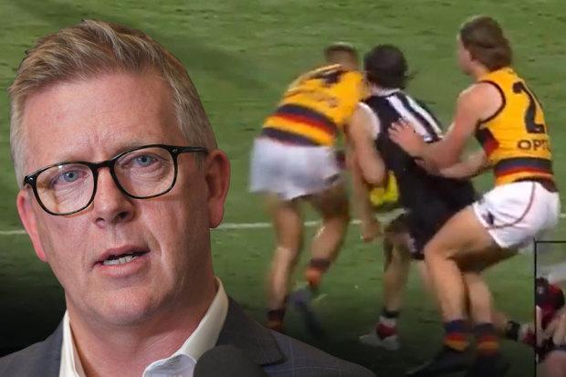 Steve Hocking, David Mackay's bump on Hunter Clark
