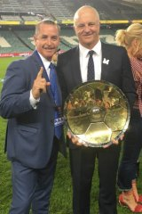 Bradley Charles Stubbs - the coach whisperer – pictured with Graham Arnold after Sydney FC won the A-League title.