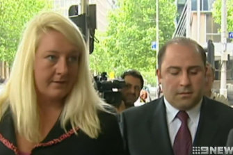 Nicola Gobbo with Tony Mokbel, who she also represented.