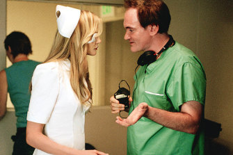 Tarantino directs Daryl Hannah in 2003's Kill Bill Volume 1.