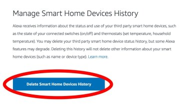 You can't stop Amazon from collecting data about smart home devices connected to Alexa, but you can tell Amazon to delete the data it already has collected at amazon.com/alexaprivacy.