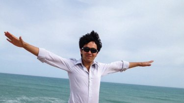 Mohammad Hadi, a Hazara asylum seeker, celebrating his release from detention.
