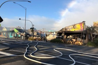 Damage caused by the fire on Collingwood Street in Apollo Bay.