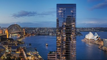 An artist's impression of the One Circular Quay development, bought by Yuhu this year.