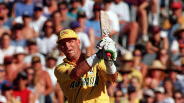 Dean Jones in action for Australia in 1994.