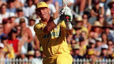 Dean Jones batting for Australia in the 1990s