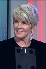 Julie Bishop on Channel Nine's election coverage panel.