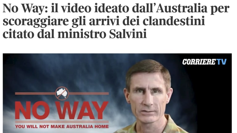 Italy's media have paid new attention to Australia's border control policy after their Deputy Prime Minister vowed to imitate it to stop migrants crossing the Mediterranean.