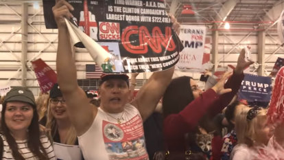 Michael Moore releases footage of mail bomber suspect Cesar Sayoc at Trump rally