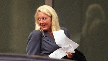 Nicola Gobbo outside the Supreme Court in 2004 before applying for bail for her client Tony Mokbel.