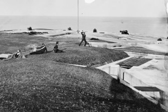 Not exactly action stations at the Middle Head fortifications in a photograph dating from 1870-1875.