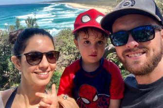 Andrea Sophocleous and Jonathan Killen with three-year-old son, Jackson.