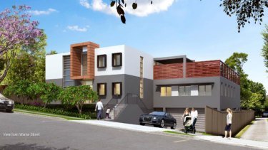 An artist's impression of a childcare centre proposed for a low-density residential area in Pennant Hills.