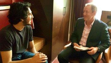 Dev Patel being interviewed by Garry Maddox aboutLion.
