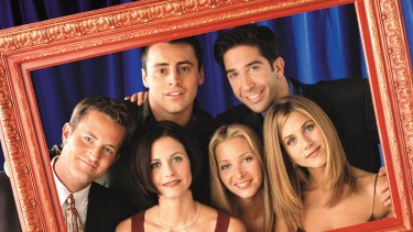 Matthew Perry, Courteney Cox Arquette, Matt LeBlanc, Lisa Kudrow, David Schwimmer, Jennifer Aniston in Friends.