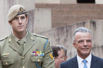 Ben Roberts-Smith and then director of the War Memorial, Dr Brendan Nelson.