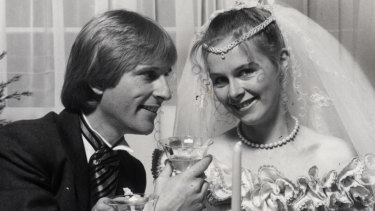 "Vicky and Simon in 1983 TV's ""wedding of the year""."