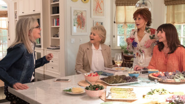 Diane Keaton, Candice Bergen, Jane Fonda and Mary Steenburgen in Book Club.