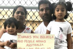 Priya and Nades Murugappan and their Australian-born children, Tharnicaa and Kopika, in a photo taken during their court fight to remain in Australia.