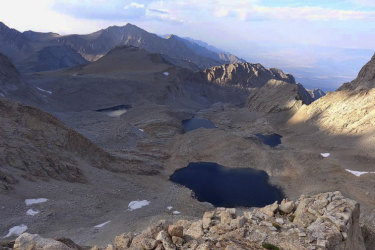 The lake below Mount Williamson where the body is believed to have been found.