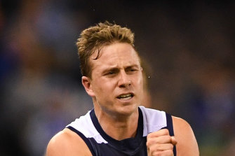 Mitch Duncan has played 203 games for the Cats.