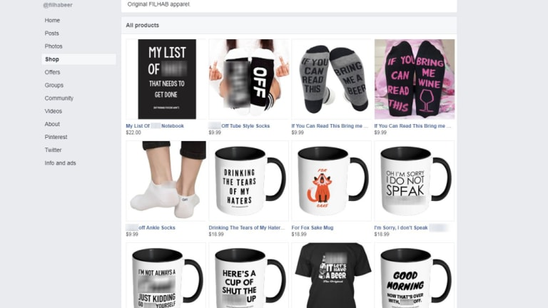The FILHAB store on Facebook, which has been limited without explanation.