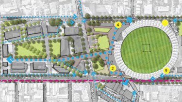 Green space, a new entrance and better links to buses and future trains are all idea for a new-look Gabba.