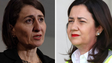 NSW Premier Gladys Berejiklian and Queensland PremierAnnastaciaPalaszczuk.