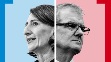 NSW Premier Gladys Berejiklian and NSW Opposition Leader Michael Daley.