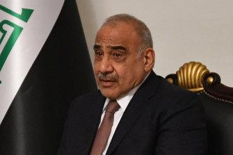 Embattled Iraqi Prime Minister Adil Abdul-Mahdi.