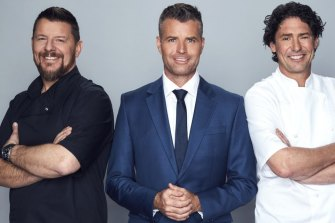 MKR's 2020 judging panel, left to right: Manu Feildel, Pete Evans, Colin Fassnidge.