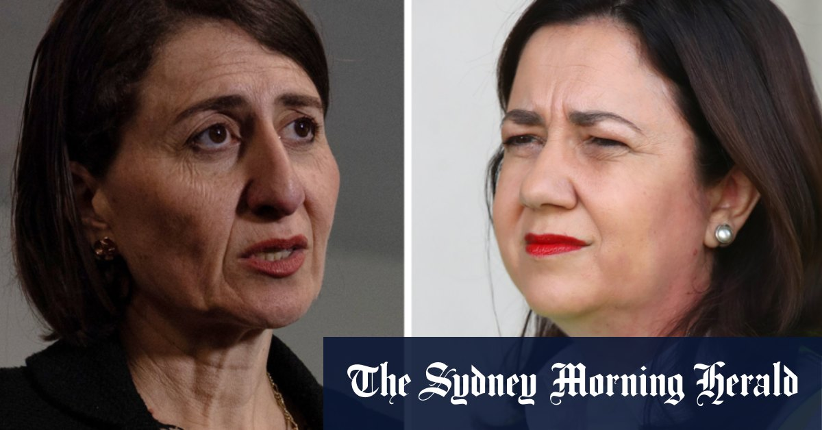 Four new local cases in NSW closes two schools; premiers tussle over Origin