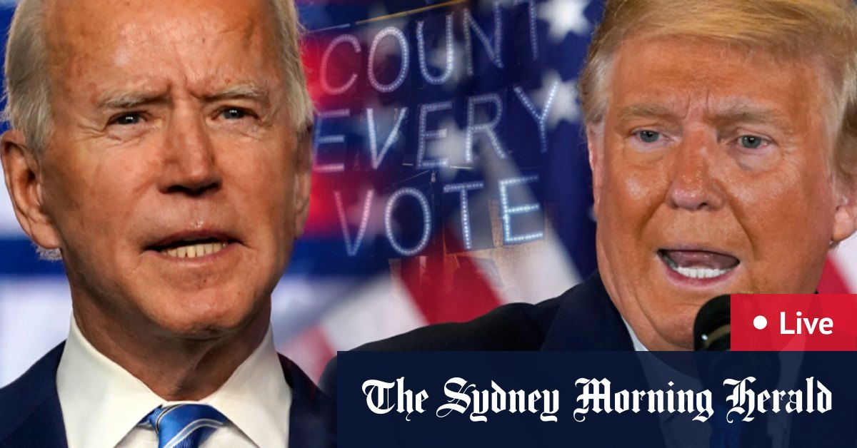 US election LIVE updates: Joe Biden takes lead in Georgia in setback for Donald Trump; Pennsylvania Nevada and North Carolina still too close to call – The Sydney Morning Herald