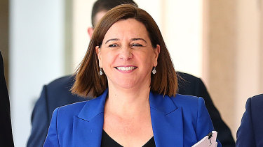 Deb Frecklington would be smiling over the $1.8 millon that has been poured into her party's coffers.