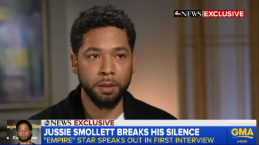 The Empire star wiped away tears as he described his anger over the assault, and about people not believing his story.