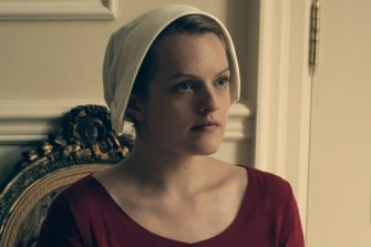 As Offred in The Handmaid's Tale, Elisabeth Moss is able to convey emotion without words.