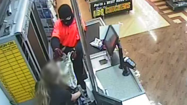 CCTV images of one of the robberies.