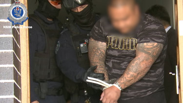 NSW Police arrest a man at Leppington in connection to the shooting of Ho Ledinh at Bankstown in 2018.