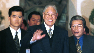 Taiwan President Lee Teng-hui in 2000.