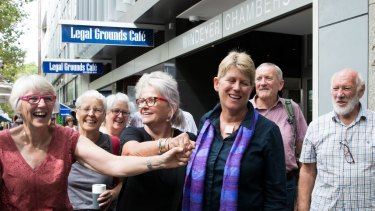 Gloucester residents are jubilant after their win in the Land and Environment Court in Sydney against the proposed Rocky Hill open-cut coal mine in Gloucester. 8th February 2019 Photo: Janie Barrett
