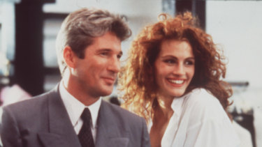 Julia Roberts and Richard Gere in <i>Pretty Woman</i>.