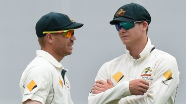 Punished: Steve Smith and David Warner are serving 12-month bans from playing for Australia.