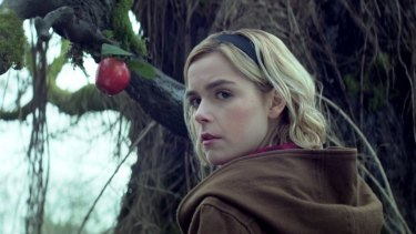 Kiernan Shipka stars as Sabrina.