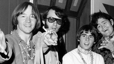 Peter Tork, left, with Mike Nesmith, David Jones and Micky Dolenz in July 1967.