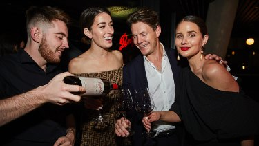Social Seen: Carmen Hamilton, Richard Crampton and Sara Crampton at the launch of The Penfolds Collection 2018 release at Smoke Bar, Barangaroo House, on Thursday, October 18, 2018.