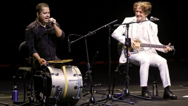 Goran Bregovic, right, and Muharem Redzepi on their Australian tour.