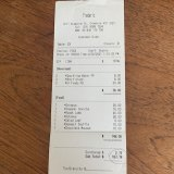 Receipt for lunch with William Mora at Frederic's.